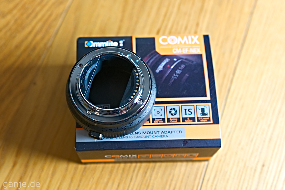 Commlite Adapter EF/ED-S auf E Mount